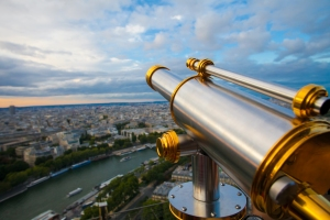 View to Paris and Seine from Effeil tower