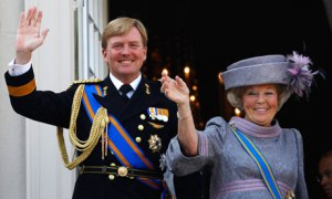 Queen Beatrix and her son Crown-Prince Willem-Alexander