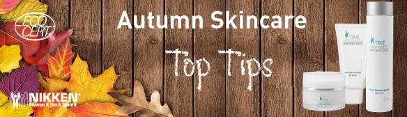 Autumn Skincare blog heading